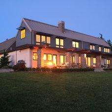 Farmhouse Exterior by Rhodes Architecture + Light