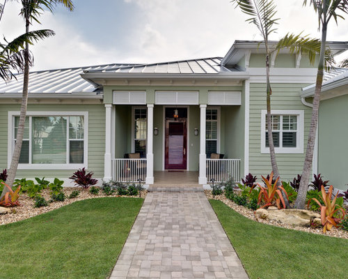 key west style home designs. Example of a mid sized island style green one story exterior home design in Key West  Houzz