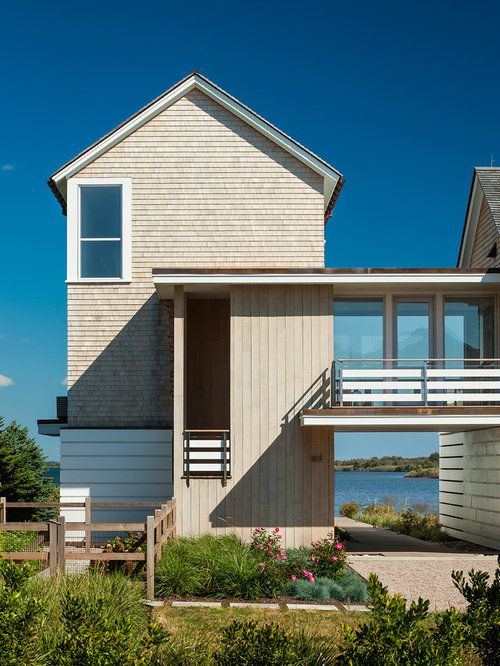 Houzz beach style exterior home design ideas remodel for Estes twombly architects