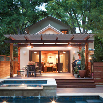 pool and covered deck