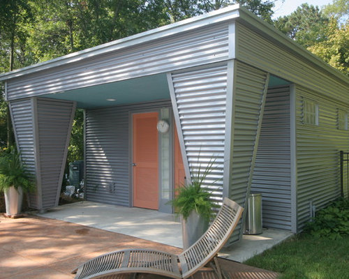 Horizontal aluminum siding houzz for Horizontal metal siding