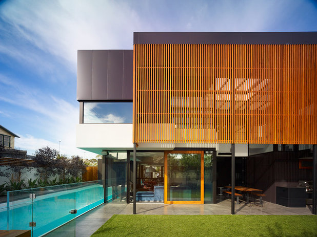 Contemporaneo Facciata by Steve Domoney Architecture