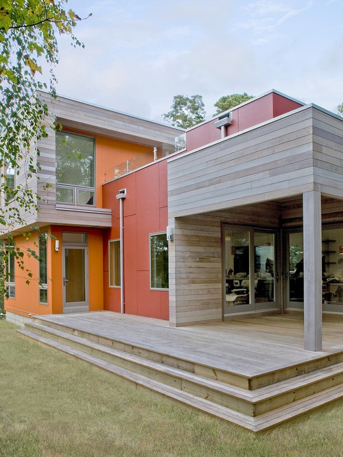 Grey cedar siding houzz for Sustainable wood siding