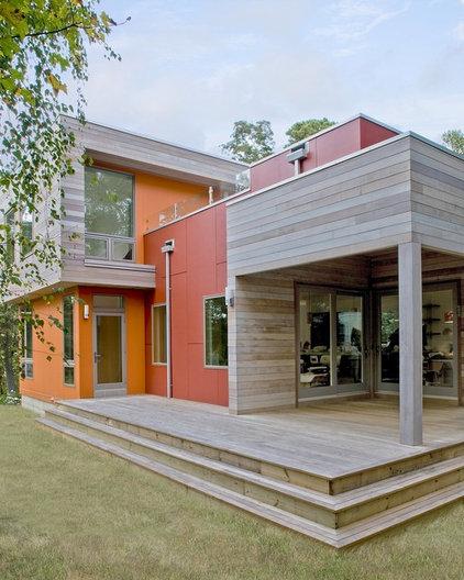 Contemporary Exterior by ZeroEnergy Design