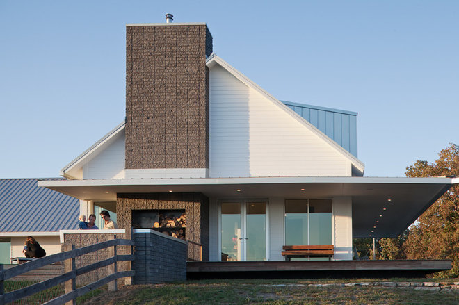 Farmhouse Exterior by Hufft Projects