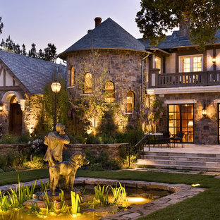 Inspiration for a timeless two-story stone exterior home remodel in San Francisco