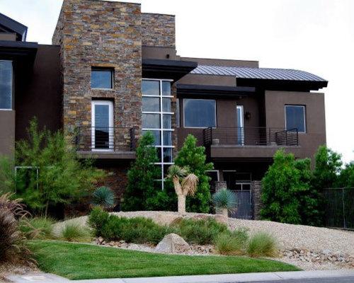 Best Transitional Las Vegas Exterior Home Design Ideas Remodel Pictures
