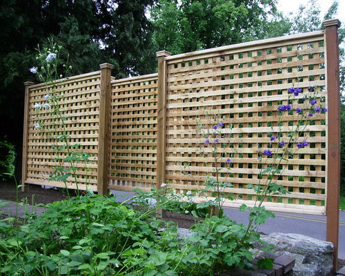 Fence lattice exterior design ideas renovations photos for Lattice yard privacy screen
