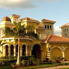 Mediterranean Exterior by Las Casitas Architecture and Interiors, LLC