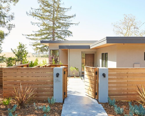 exterior house color combination. inspiration for a contemporary beige flat roof remodel in san francisco exterior house color combination e