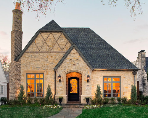 Stone Veneer With Brick Accents Home Design Ideas