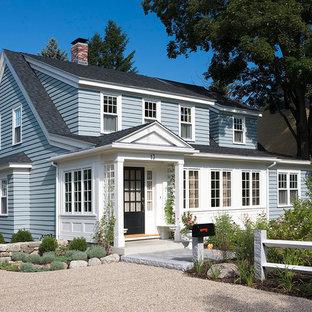 Elegant wood exterior home photo in Boston