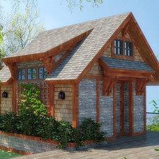 Rustic Exterior by Hunter & Tristan Design