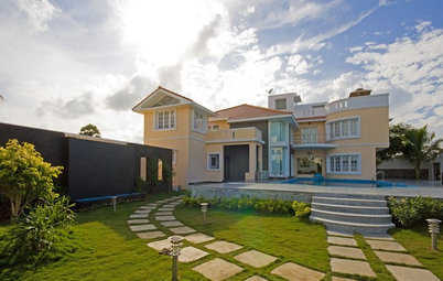Indian Homes: Exterior Colour Combinations for Houses