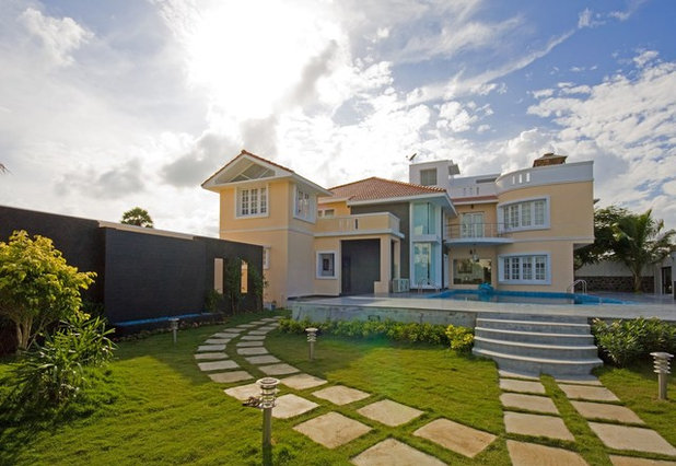 Indian Homes Exterior Colour Combinations For Houses