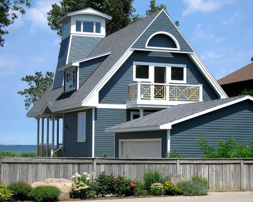 James hardie blue siding home design ideas pictures for Cottage exterior siding ideas