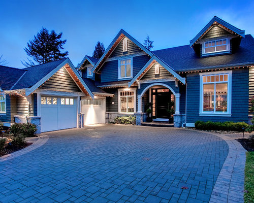 mid sized traditional two story exterior in vancouver with wood siding