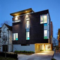Contemporary Exterior by Arcademia Group Inc.