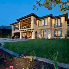 Mediterranean Exterior by Bill Frame Custom Homes Ltd