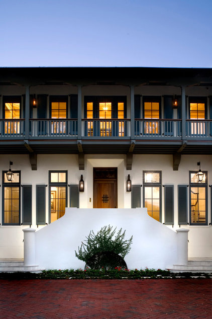 Mediterranean Exterior by Cooper Johnson Smith Architects and Town Planners