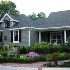 Traditional Exterior by Leslie Gross