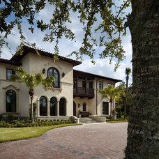 Mediterranean Exterior Private Residence Jacksonville Florida