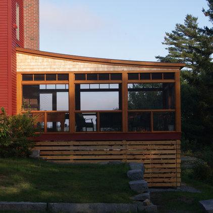 Contemporary Exterior by David Matero Architecture