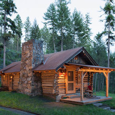 Rustic Exterior by Montana Creative architecture + design