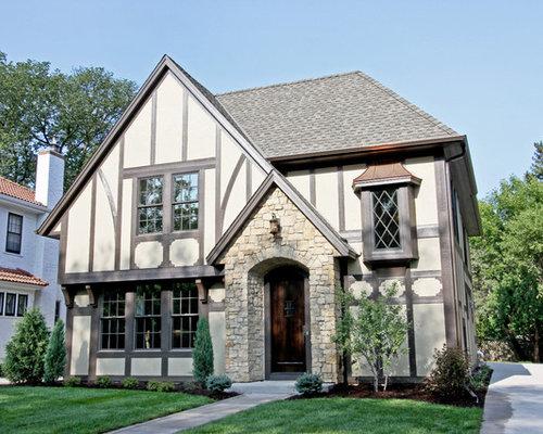 Tudor Facade change tudor style exterior | houzz