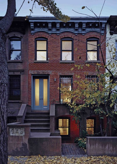 Transitional Exterior by Delson or Sherman Architects pc