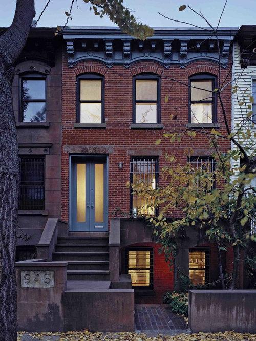 Row house houzz for Row house exterior design ideas
