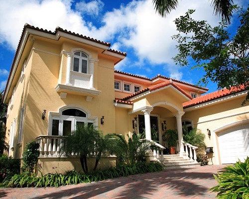 Expansive Tropical House Paint Color Exterior Design Ideas