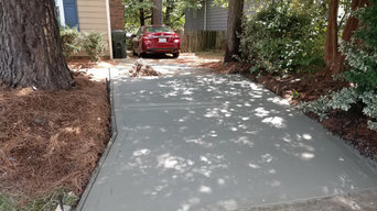 Pryor Driveway removal and install