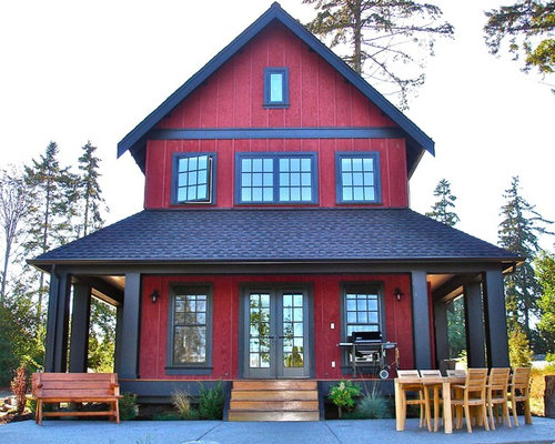 Red Exterior Home Design Ideas Pictures Remodel And Decor