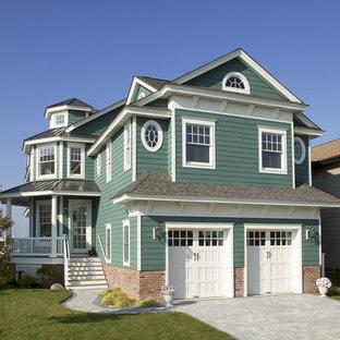 Diseño de fachada verde tradicional