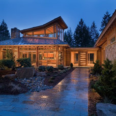 Contemporary Exterior by Quantum Windows & Doors, Inc.