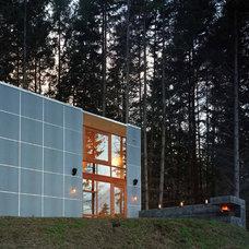Contemporary Exterior by Quantum Windows & Doors, Inc.