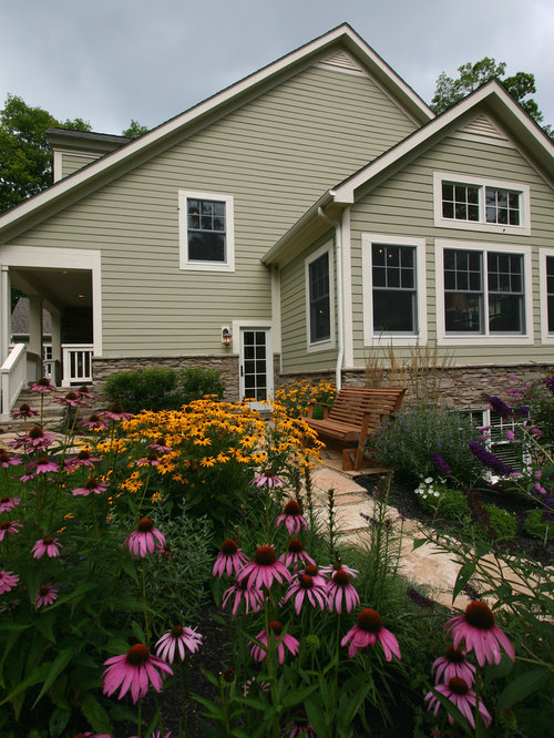 Nantucket gray houzz for Benjamin moore nantucket gray exterior