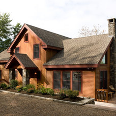 Rustic Exterior by Habitat Post & Beam, Inc.