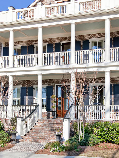 Brick House Front Porch | Houzz