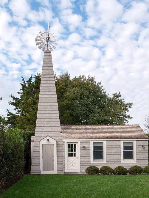 Inspiration For A Farmhouse Gray One Story Wood Gable Roof Remodel In New  York With