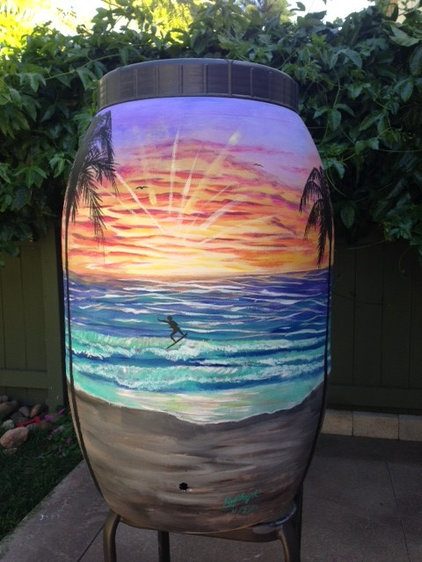 contemporary exterior by rain barrel artist