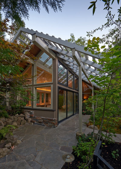 Contemporary Exterior by Richard Brown Architect AIA