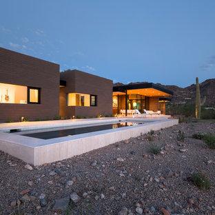 フェニックスのコンテンポラリースタイルのおしゃれな家の外観の写真