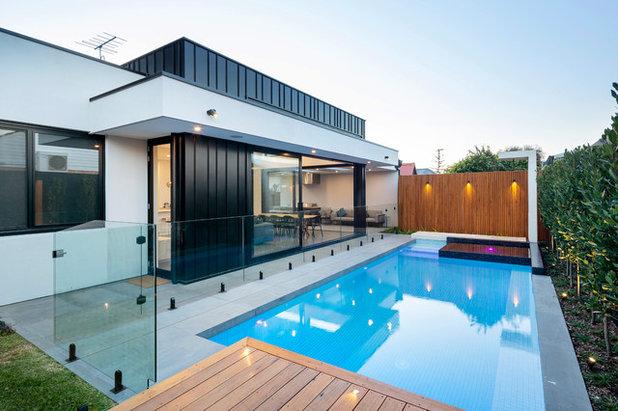 Contemporary Exterior by Platinum Fine Homes