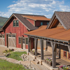 Rustic Exterior by Terra Firma Custom Homes