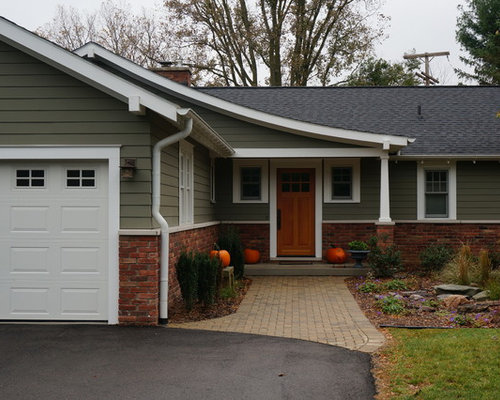 Ranch to craftsman home design ideas pictures remodel - Pittsburgh exterior paint reviews ...