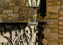 Gate and light fixture