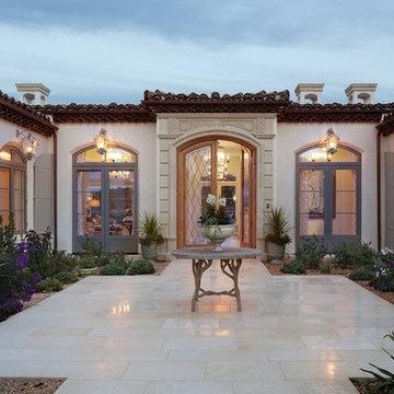 Rancho Santa Fe Home Courtyard Entry Design