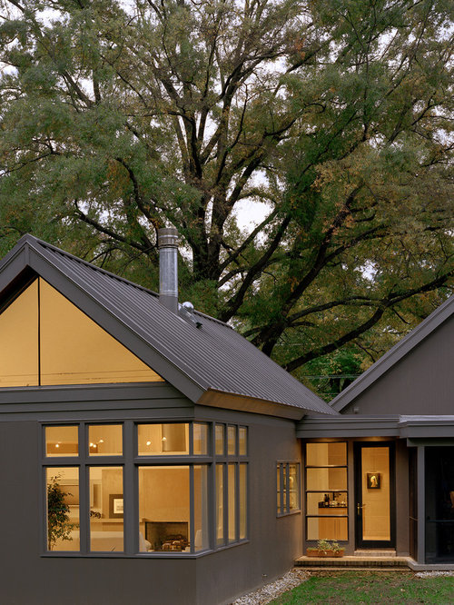Inspiration for a transitional one-story gable roof remodel in DC Metro